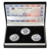 JIŘÍ KOLÁŘ – návrhy mince 500,-Kč - sada tří Ag medailí 34mm Proof v etui