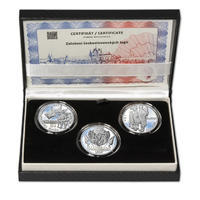 ZAL. ČESKOSLOVENSKÝCH LEGIÍ – návrhy mince 200 Kč - sada tří Ag medailí 34 mm Proof v etui