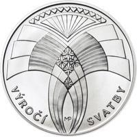 Výročí svatby 25 mm stříbro b.k.