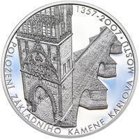 650 let od položení základního kamene Karlova mostu Ag 1 Oz Proof