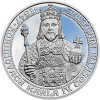 660 let od Korunovace Karla IV. českým králem - stříbro Proof
