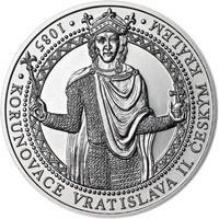 Korunovace Vratislava II. českým králem - stříbro b.k.