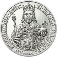 660 let od Korunovace Karla IV. českým králem - stříbro b.k.
