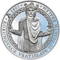 Korunovace Vratislava II. českým králem - stříbro Proof