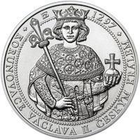 Korunovace Václava II. českým králem  - stříbro b.k.