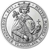 Korunovace Vladislava II. českým králem - stříbro b.k.