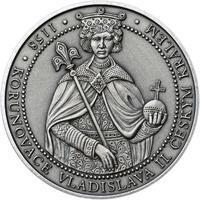 Korunovace Vladislava II. českým králem - stříbro patina