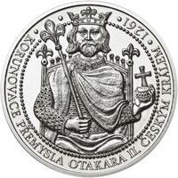 Korunovace Přemysla Otakara II. českým králem -  stříbro b.k.