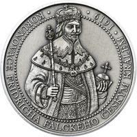 Korunovace Fridricha Falckého českým králem - stříbro patina