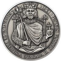 Korunovace Přemysla Otakara II. českým králem -  stříbro patina