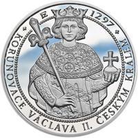 Korunovace Václava II. českým králem  - stříbro Proof