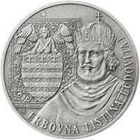 Erb Košice - 28 mm stříbro patina