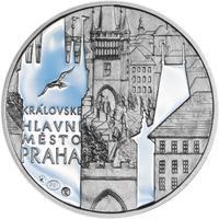 Královské hlavní město Praha - stříbro 1 Oz Proof