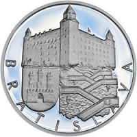 Bratislava - stříbro 1 Oz Proof