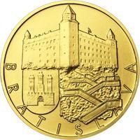 Bratislava - zlatá 1 Oz b.k.