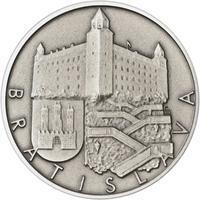 Bratislava - stříbro 1 Oz patina