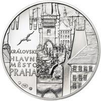 Královské hlavní město Praha - stříbro 28 mm b.k.