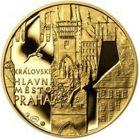 Královské hlavní město Praha - zlato 1 Oz Proof