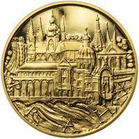 Praha - zlatá 1 Oz Proof