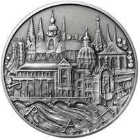 Královské hlavní město Praha - stříbro 1 Oz patina