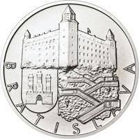 Bratislava - stříbro 1 Oz b.k.