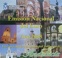 Sada mincí Španělsko 2008 Unc - Andalucia