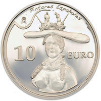 2009 Bust of a woman 10 Eur Spanish Painters: Salvador Dalí Ag Proof