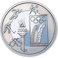 Olympic Games  Ag 10 EUR Proof Belg. 08