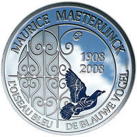 Maeterlinck Ag 10 EUR Proof Belg. 08