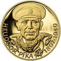 Heliodor Píka - zlato 1/2 Oz Proof