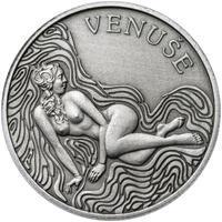 Venuše 25 mm stříbro patina