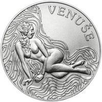 Venuše 25 mm stříbro b.k.
