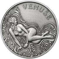 Venuše 50 mm stříbro patina