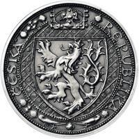 Lev a Orlice - stříbro malá patina