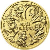 Muži 28. října - zlato 1/2 Oz b.k.