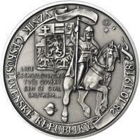 Muži 28. října - stříbro malá patina