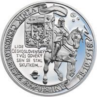 Muži 28. října - stříbro malá Proof