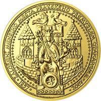 750 let od založení Menšího Města pražského Přemyslem Otakarem II. - zlato b.k.