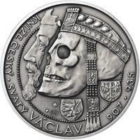 Relikvie Sv. Václava - vzor 1 - 1 Oz Ag patina