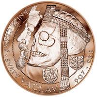 Relikvie Sv. Václava - vzor 1 -  1 Oz Měď b.k.