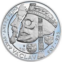 Relikvie Sv. Václava - vzor 1 - 1 Oz Ag Proof