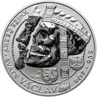 Relikvie Sv. Václava - vzor 1 - 1 Oz Ag REVERSE Proof