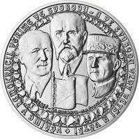 Vznik ČSR - stříbro 1 Oz b.k.