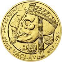 Relikvie Sv. Václava - vzor 1 -  1/2 Oz zlato b.k.