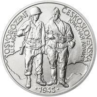 Osvobození Československa 8.5.1945 - 28 mm stříbro b.k.