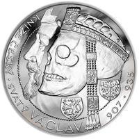 Relikvie Sv. Václava - vzor 1 - 1 Oz Ag b.k.