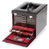 Kožený kufřík na mincovní kazety - 10 pozic