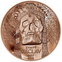 Relikvie Sv. Václava - vzor 2 -  1 Oz Měď b.k.