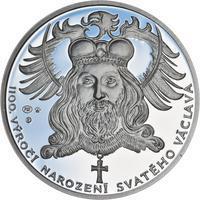 1100. výročí narození sv. Václava - stříbro 1 Oz Proof