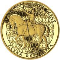 Sv. Václav na koni - Zlato Proof